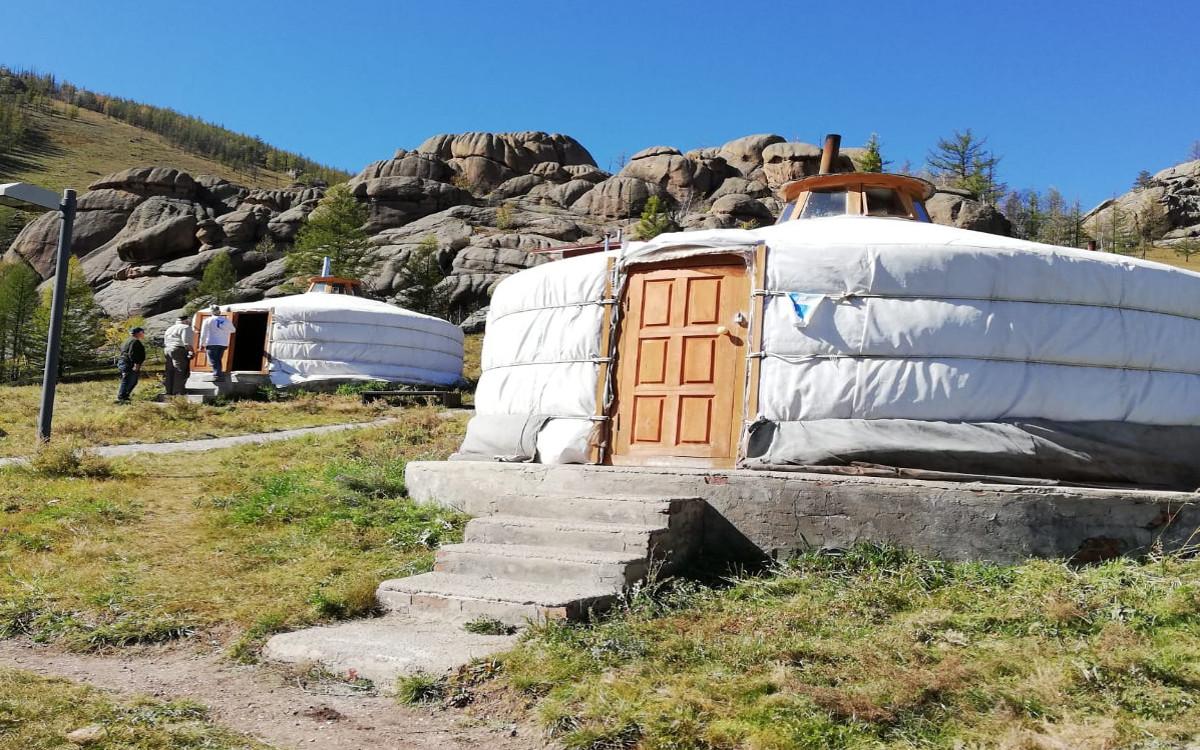 Jurtencamp im Nationalpark Terelj bei Ulan Bator