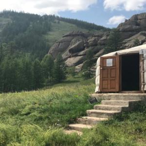 Mongolische Jurte im Nationalpark Terelj