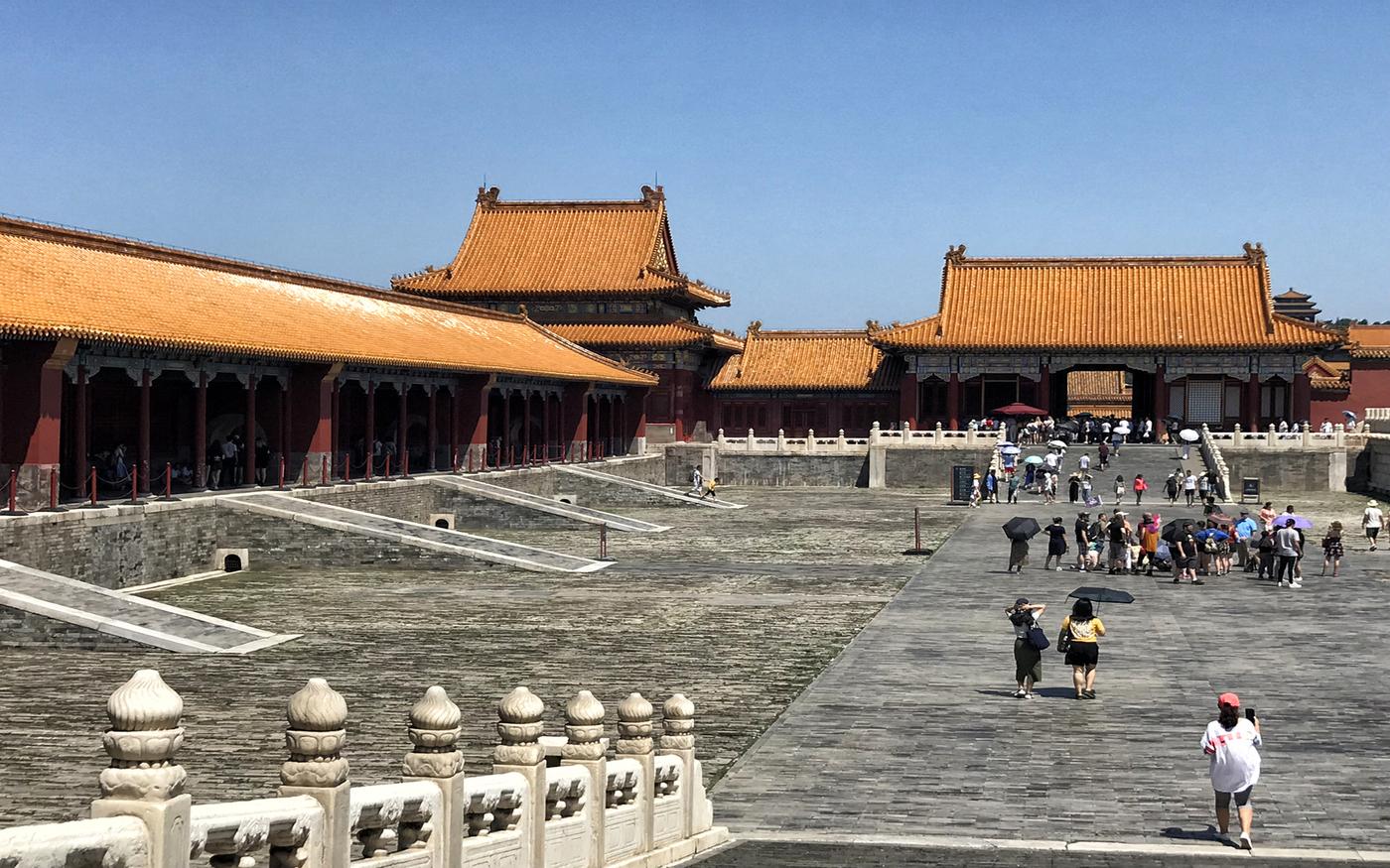 Besichtigung der Verbotenen Stadt in Peking