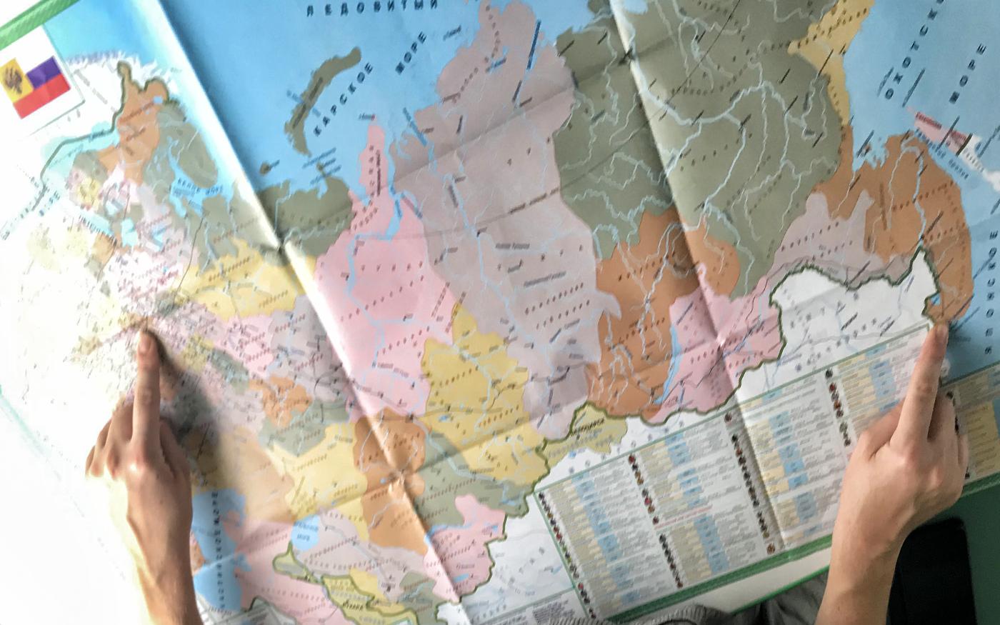 Von Moskau nach Wladiwostok - Karte der Transsib Route