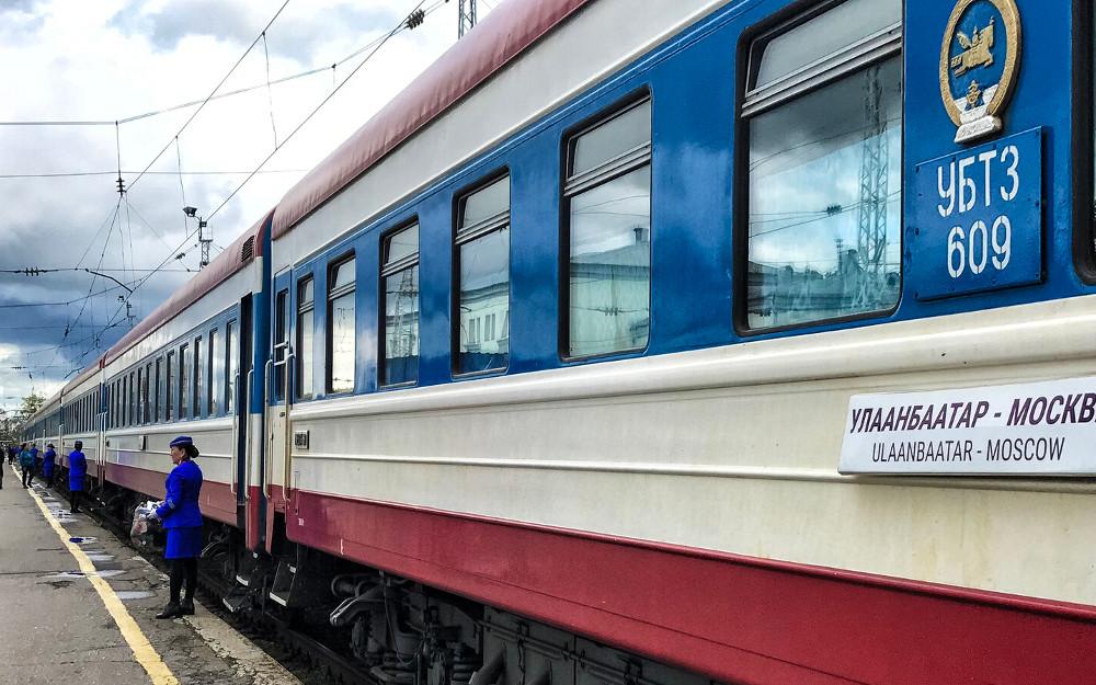 Mongolischer Zug Nr. 6 von Moskau nach Ulan Bator