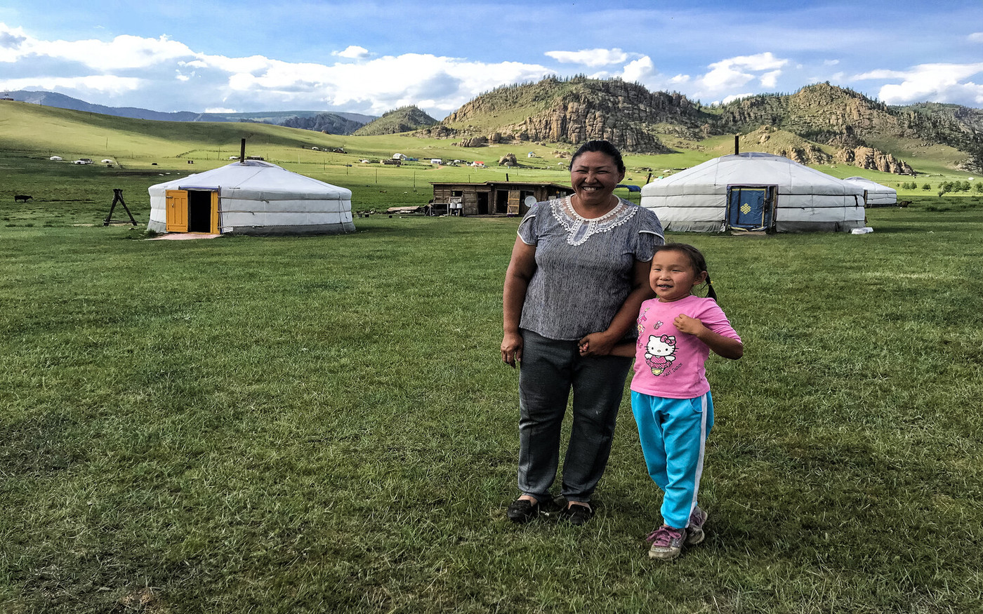 Bei unserem Besichtigungsprogramm immer dabei - Besuch bei einer Nomadenfamilie bei Ulan Bator