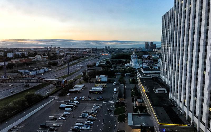 Blick vom Hotel Izmailovo in Moskau
