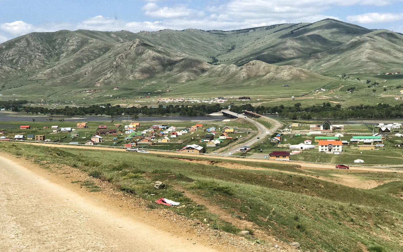 Eine Siedlung unweit von Ulan Bator
