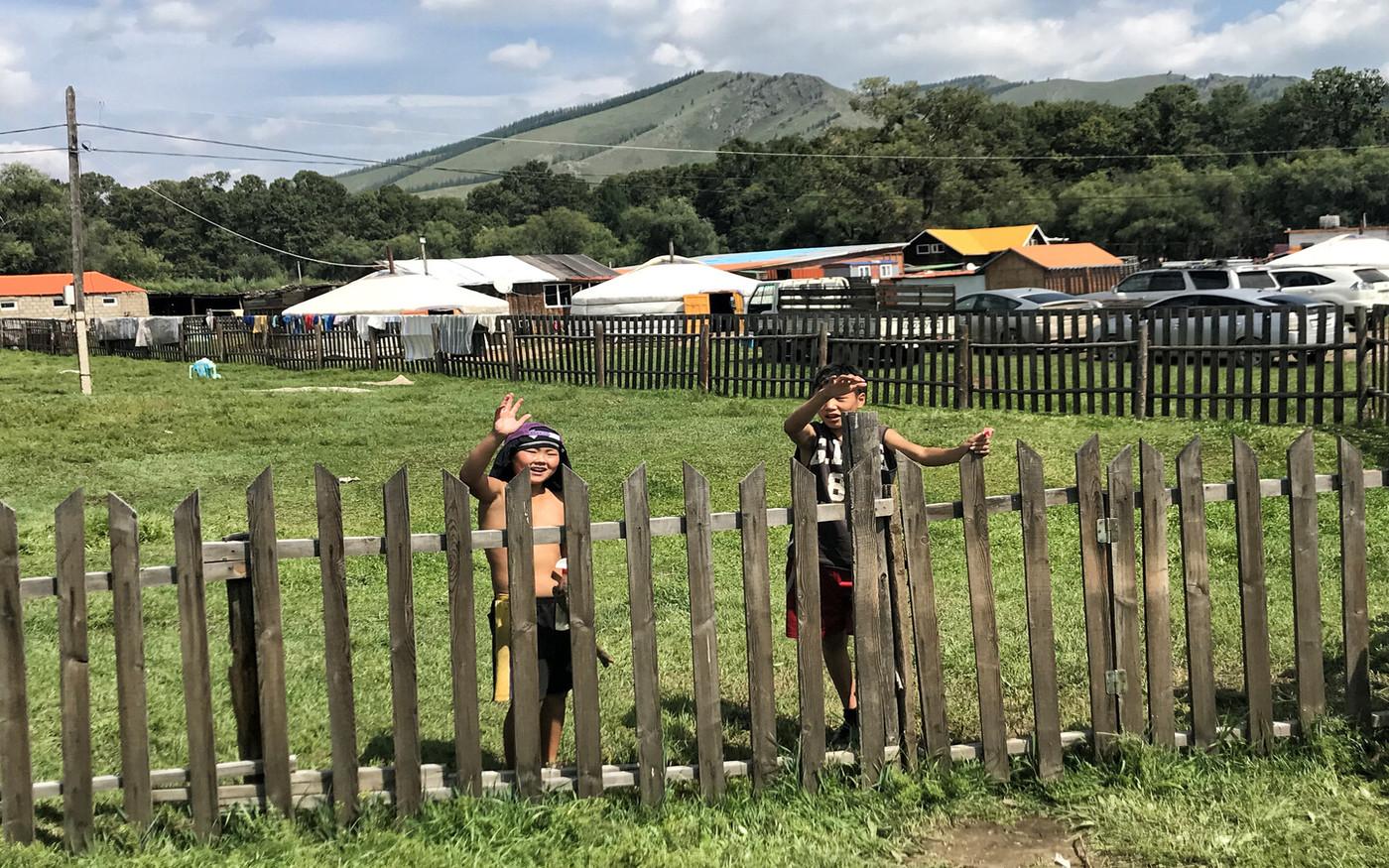 Eine Siedlung in der Mongolei