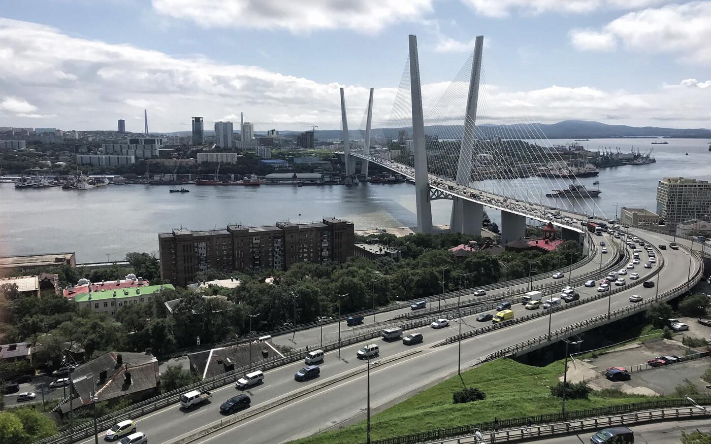 Die Russische Brücke in Wladiwostok