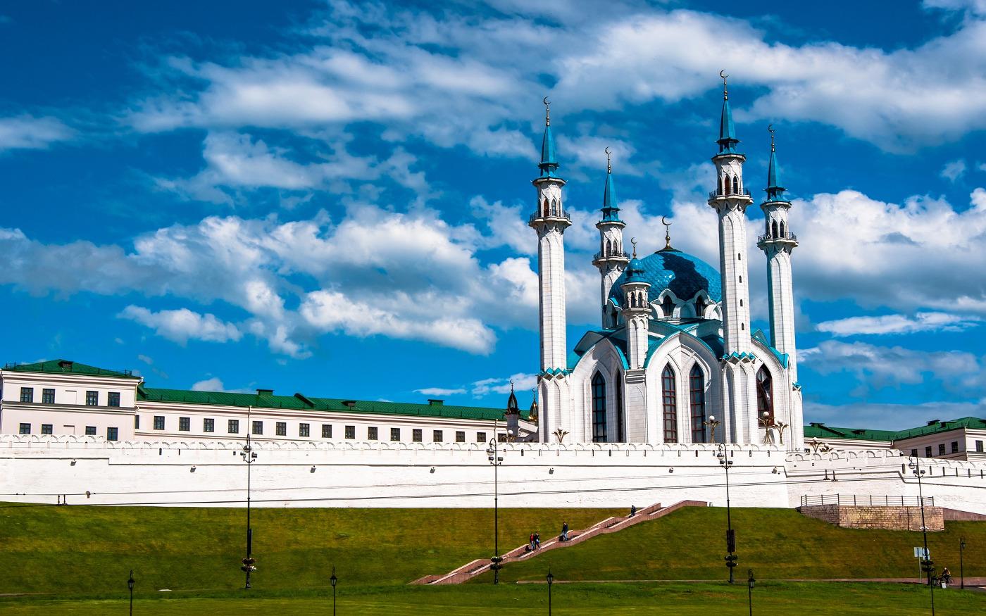 Kreml in Kasan mit der Kul-Scharif-Moschee