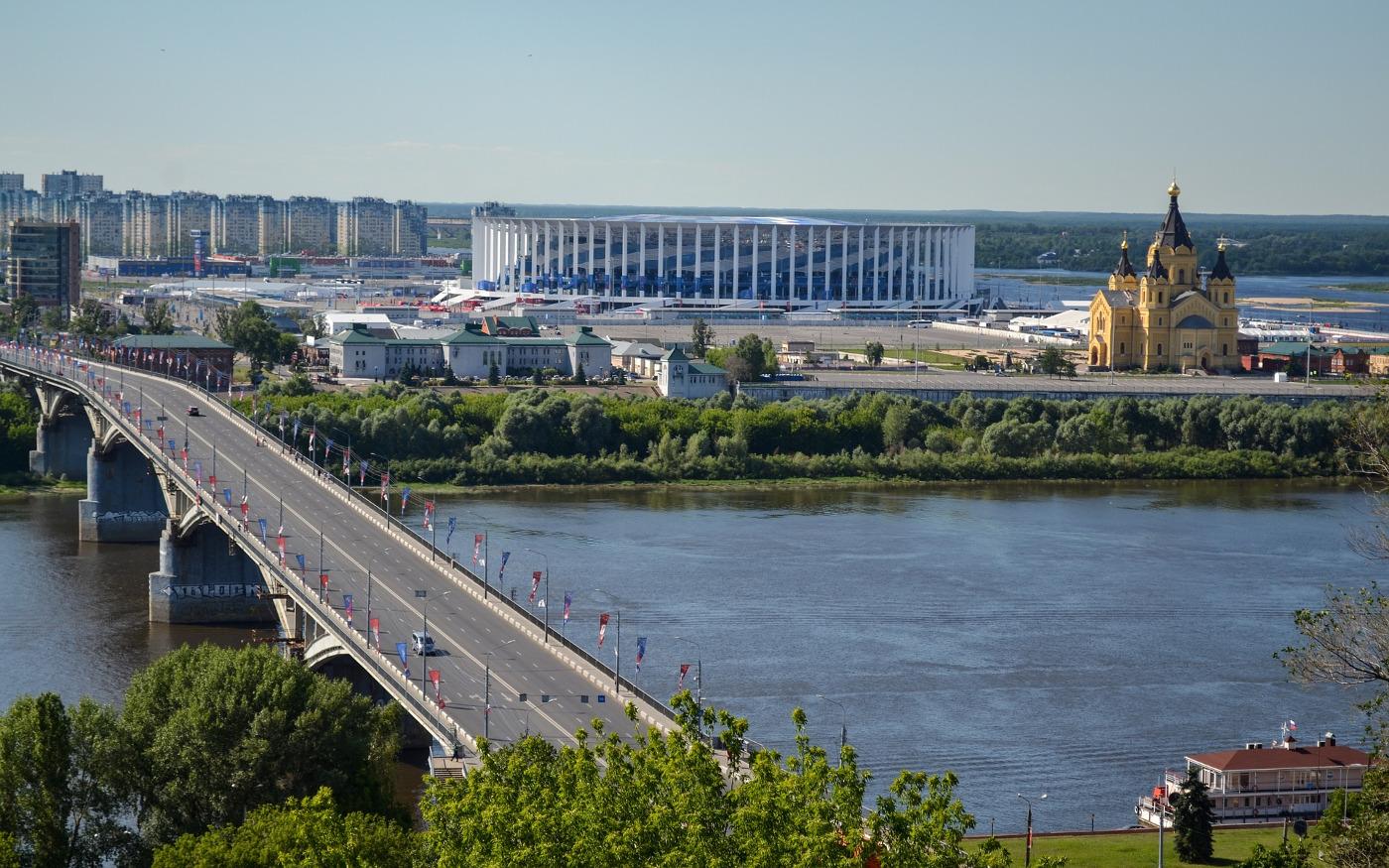 Brücke über die Wolga in Nischni Nowgorod