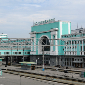 Hauptbahnhof in Nowosibirsk - der Hauptstadt Sibiriens