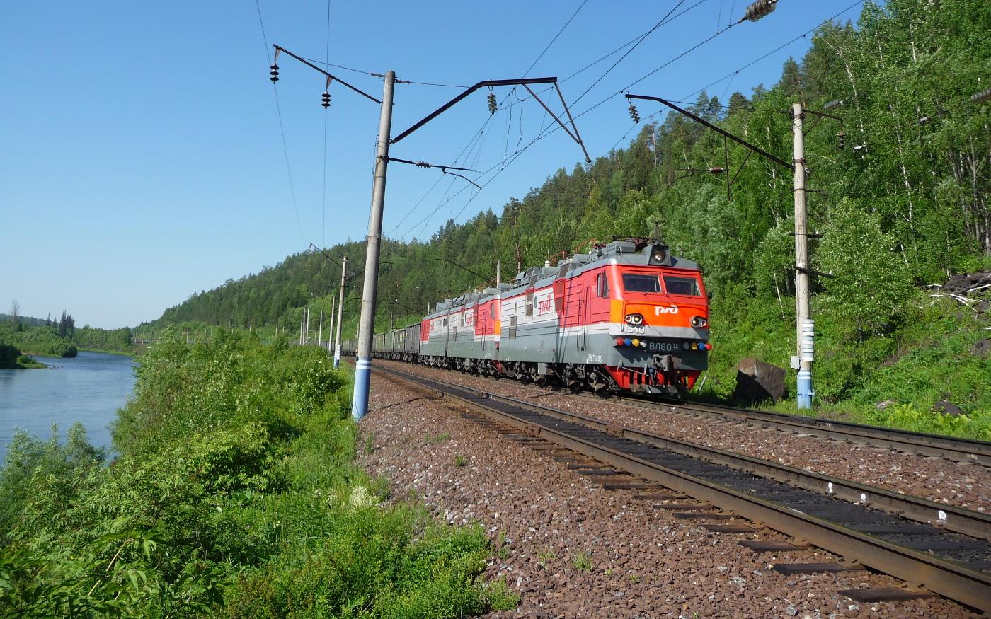Transsib bei Tajschet mitten in Sibirien