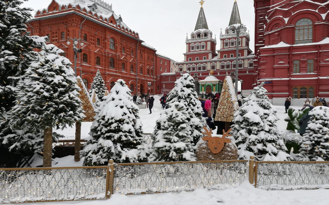 Winter in Moskau - Blick auf das Historische Museum