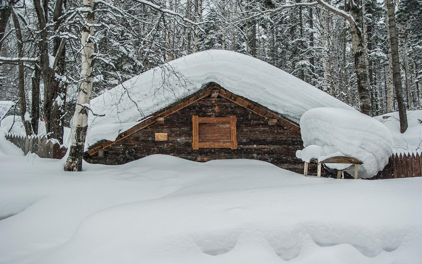 Mit Schnee bedecktes Sibirien