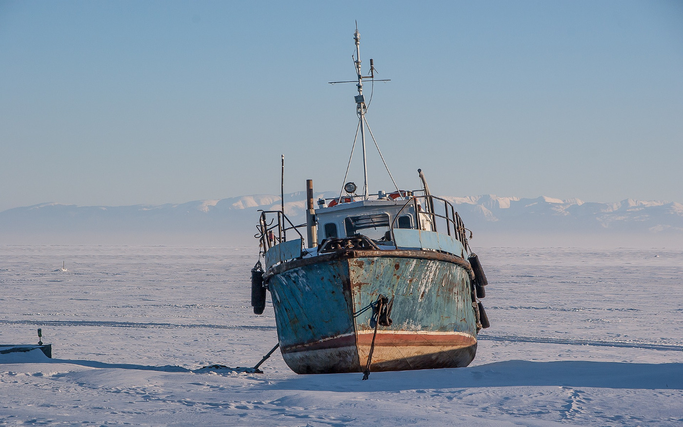 Der zugefrorene Baikalsee