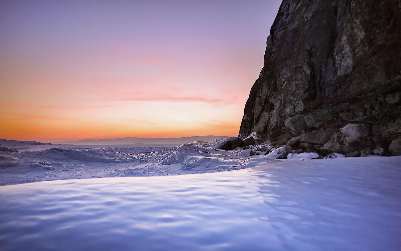 Winter auf der Insel Olchon