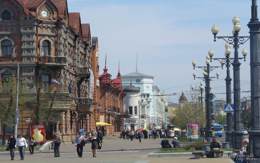 Eine der ältesten Straßen in Chabarowsk