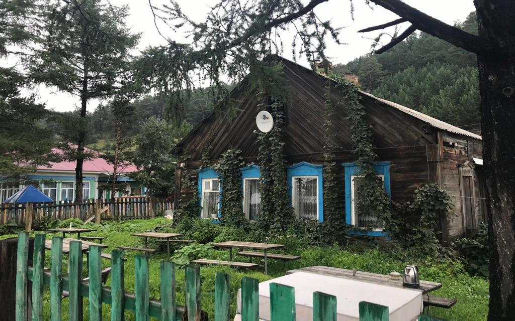 Holzbauten in Listwianka am Baikalsee