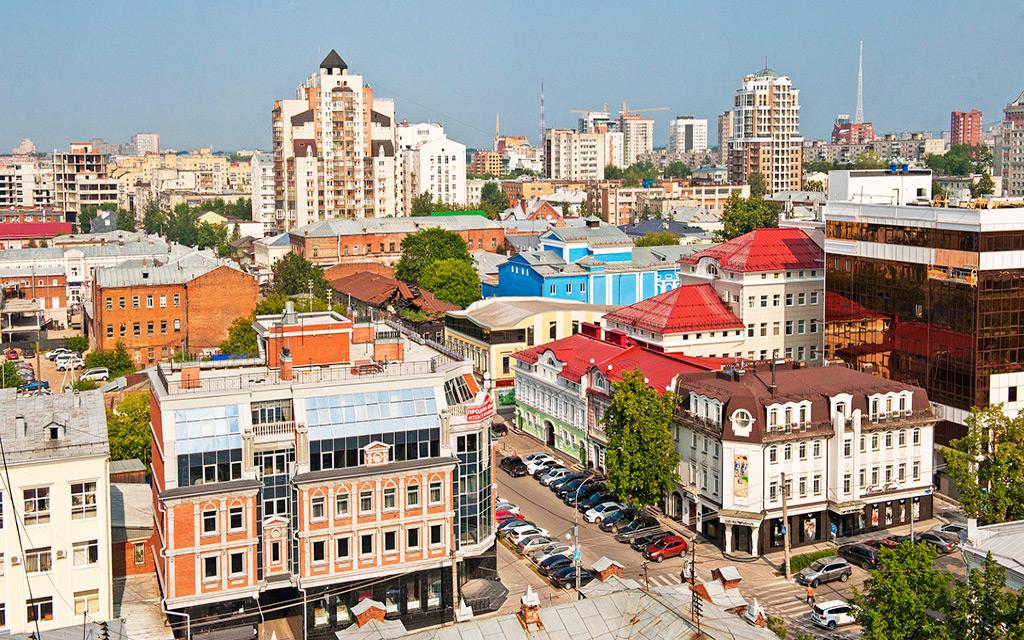 Die Stadtpanorama von Perm