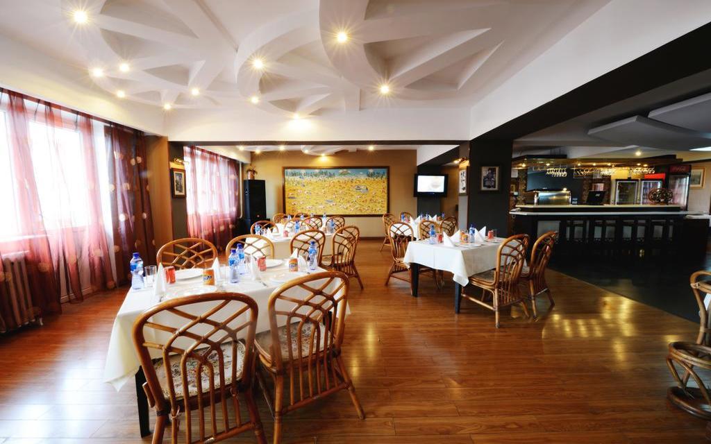 Restaurant im Hotel Bayangol in Ulan Bator