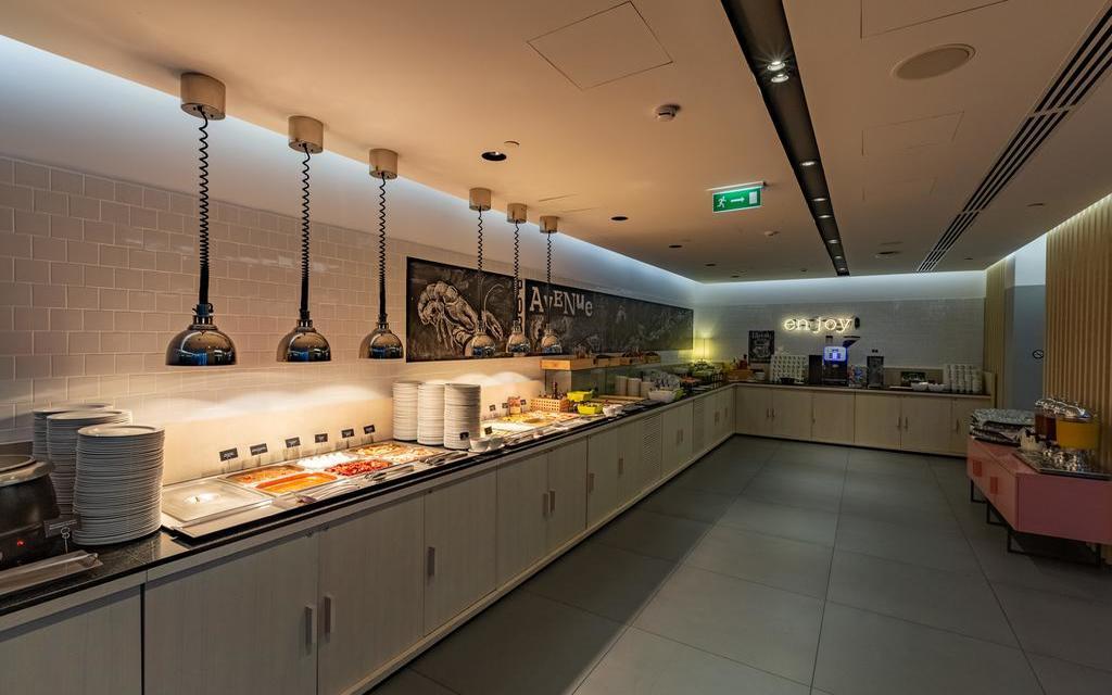 Buffet im Hotel Azimut in Wladiwostok