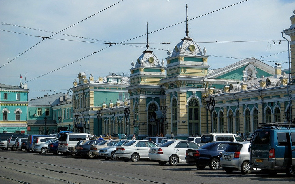 Der Bahnhof in Irkutsk