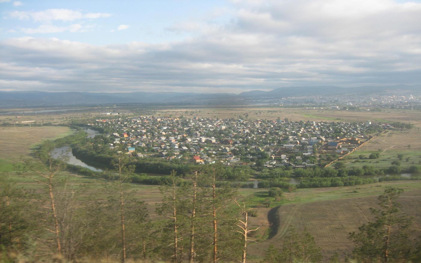 Eine Stadt entlang der Transsib